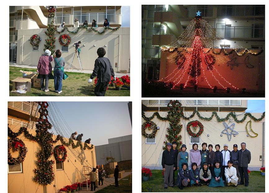 クリスマスツリー 病院ボランティア